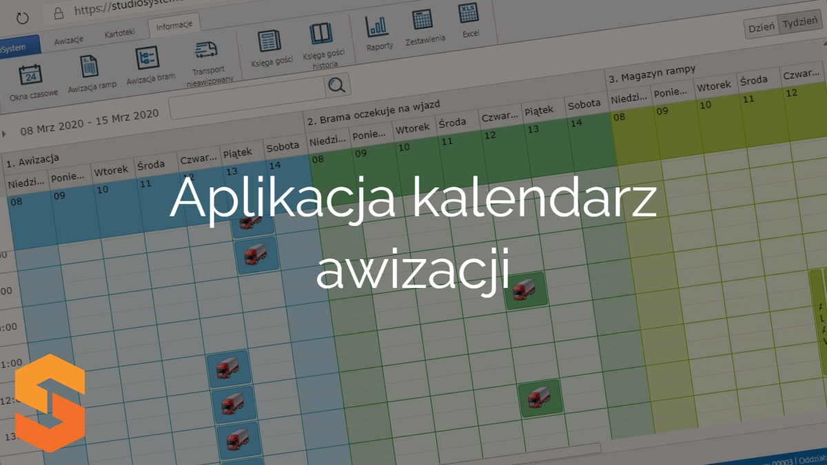 platforma zarządzania oknami czasowymi,aplikacja kalendarz awizacji
