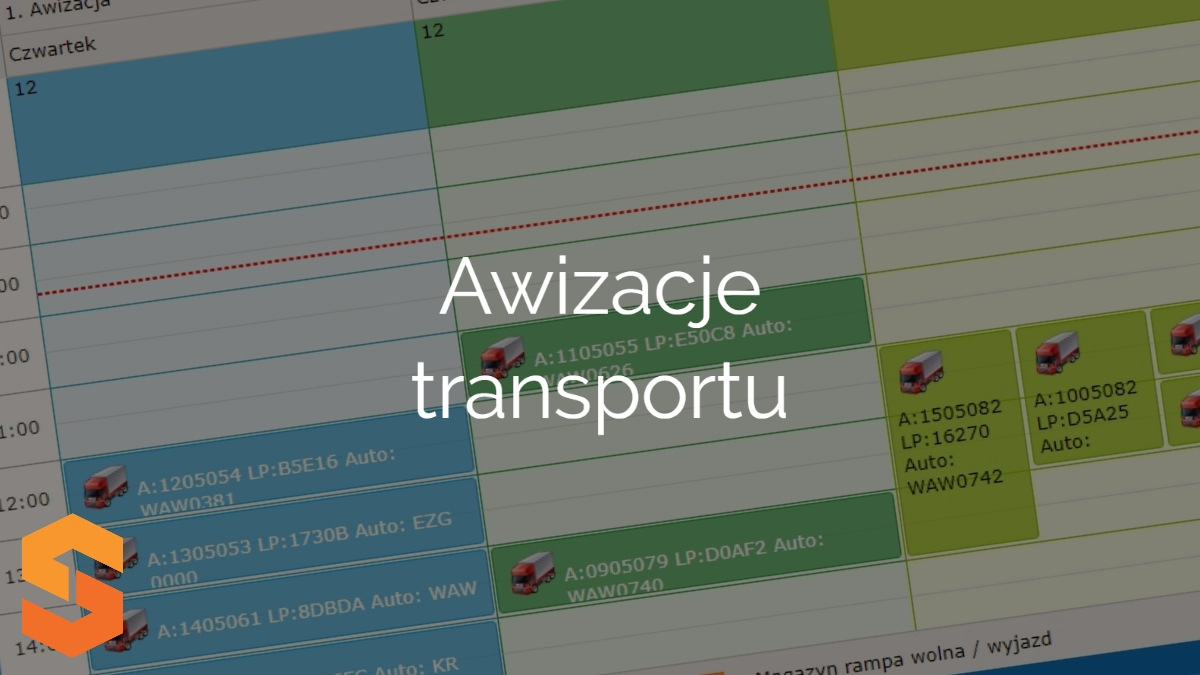 warehouse time slot management system,awizacje transportu