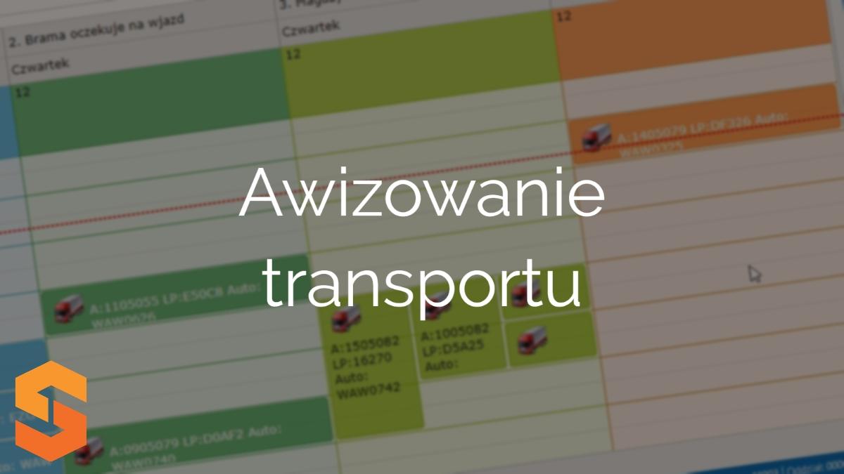 okna czasowe,awizowanie transportu