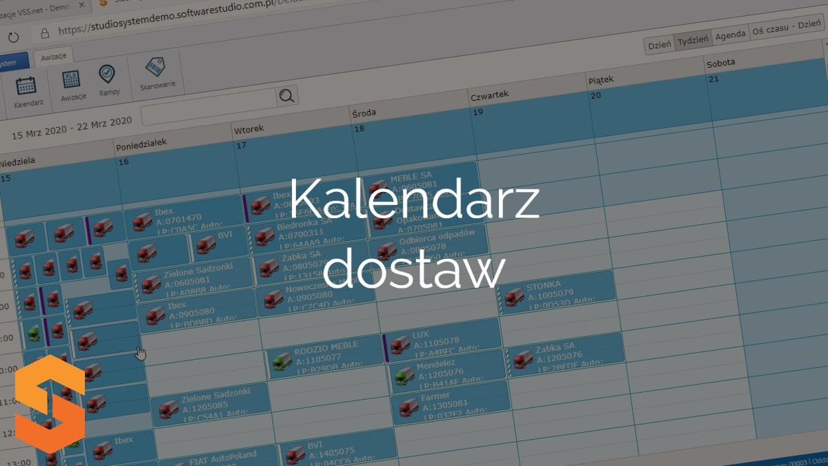 yms yard management system,kalendarz dostaw