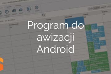Program do awizacji Android