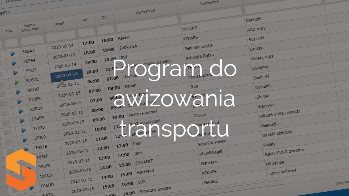 time slot management aplikacja,program do awizowania transportu