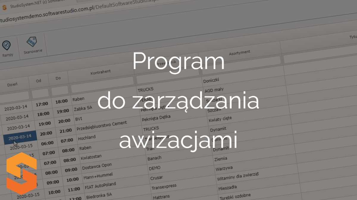 time slot management software online,program do zarządzania awizacjami
