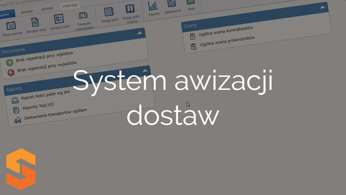 awizacja transportu online,system awizacji dostaw