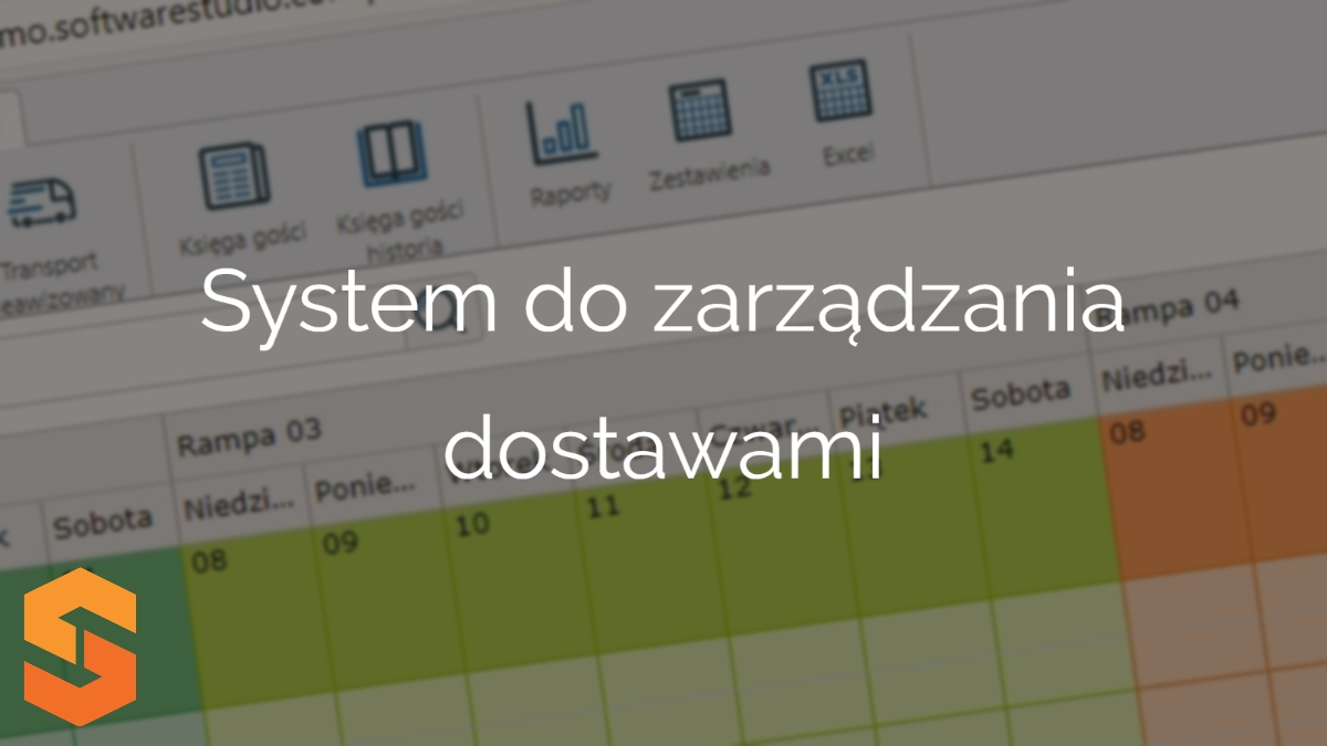 awizacja dostaw software,system do zarządzania dostawami