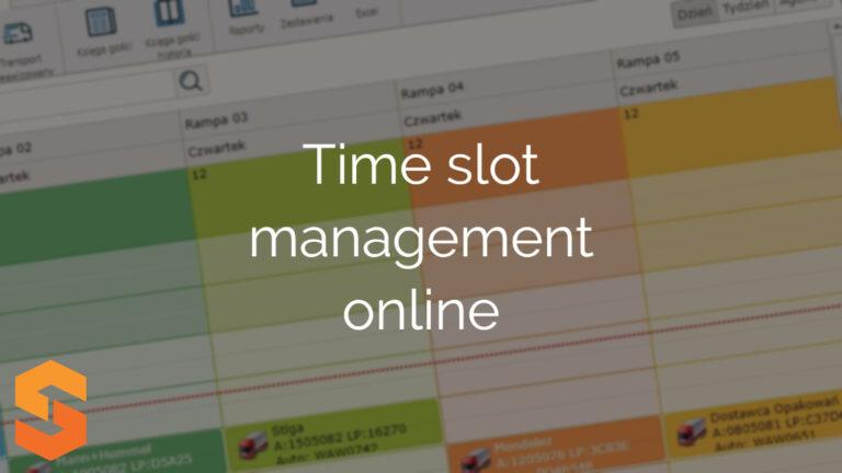 Time slot management online