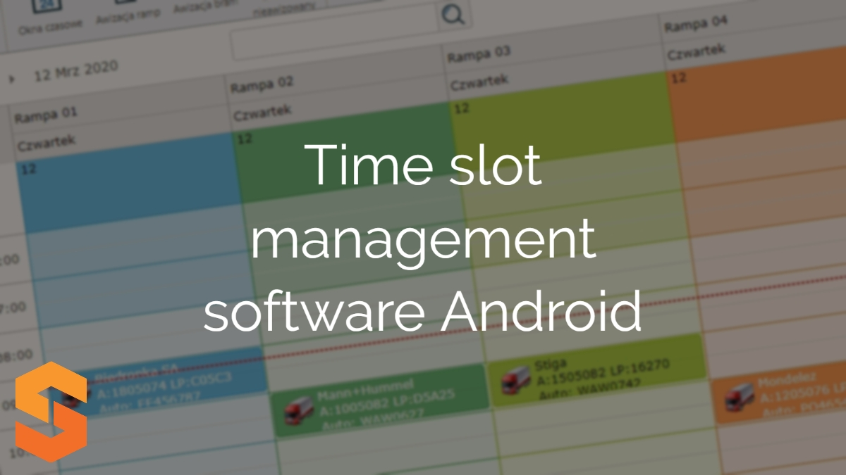 aplikacja yms,time slot management software android