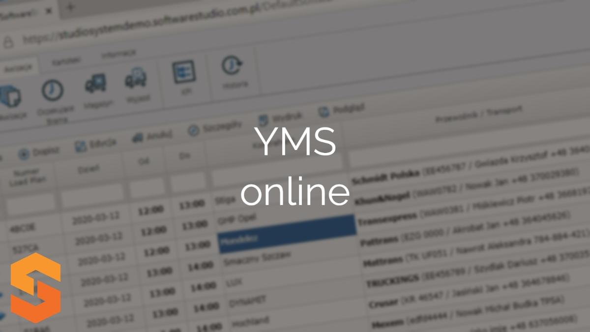 awizacja dostaw software,yms online