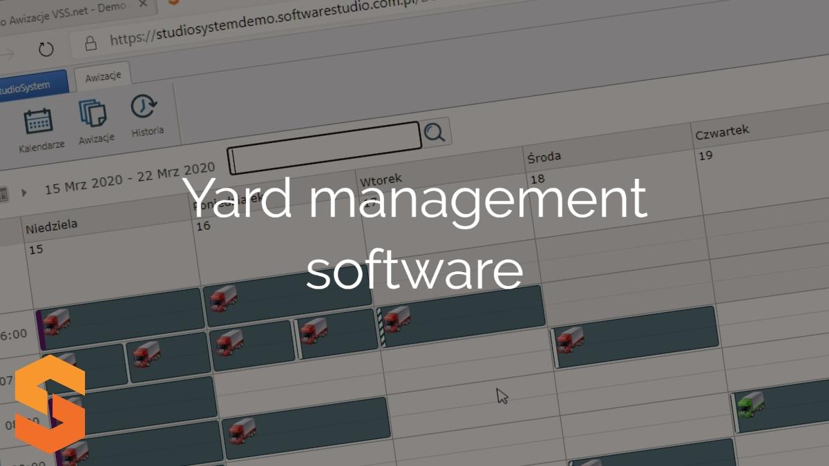 harmonogram prac w magazynie,yard management software