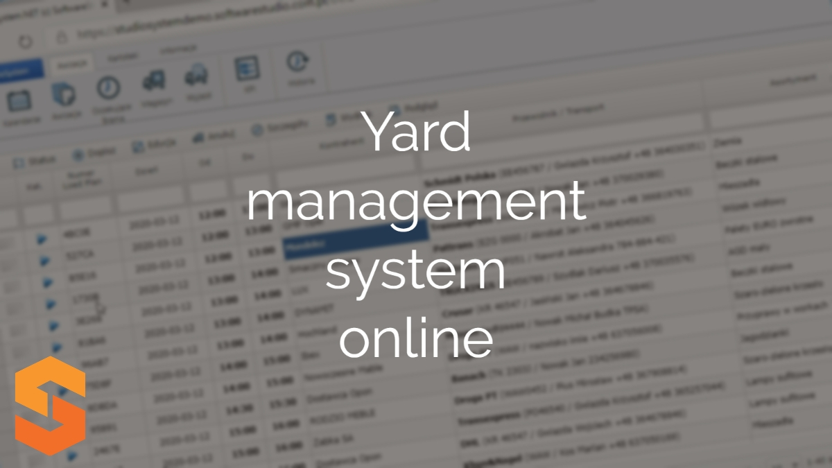 planowanie transportów online,yard management system online