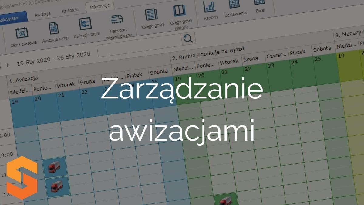 platforma okna czasowe,zarządzanie awizacjami