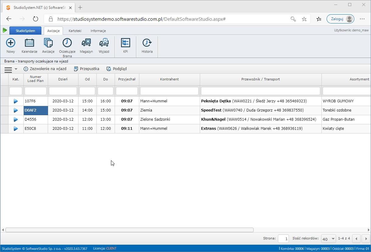 platforma zarządzania oknami czasowymi